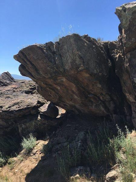 Rock Climbing Photo: The face of the Shotgun Boulder.