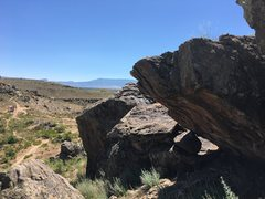 Rock Climbing Photo: The boulder looking back at the trail. You can see...