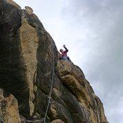 Rock Climbing Photo: Mike Arechiga on, Postpartum Depression Arete. 5.1...