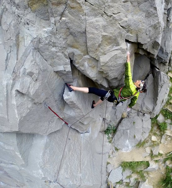 Rock Climbing Photo: Sidewinder 11a variation to ticked off finish star...