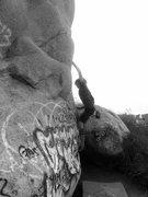 Rock Climbing Photo: Senior Hernandez going for Fertility Direct!!!
