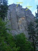 Rock Climbing Photo: Middle crack system is the Syllable