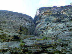 Rock Climbing Photo: View from the bottom of the route