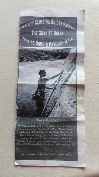 Rock Climbing Photo: Peavine Dome & Pavilion Wall - Pamphlet Cover