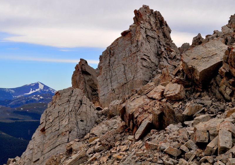 Summit area crags