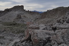 Rock Climbing Photo: Summit plateau would be nice for camping if the wi...