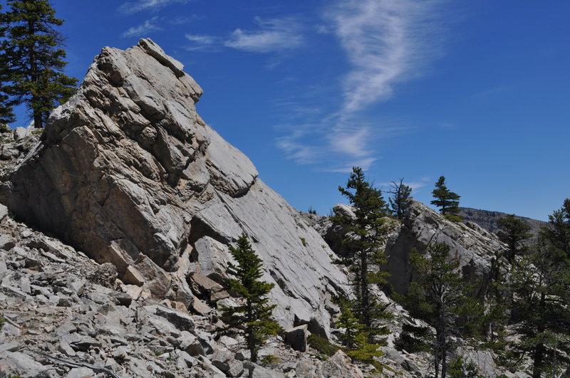 Rock Climbing Photo: Nice slab limestone boulder.