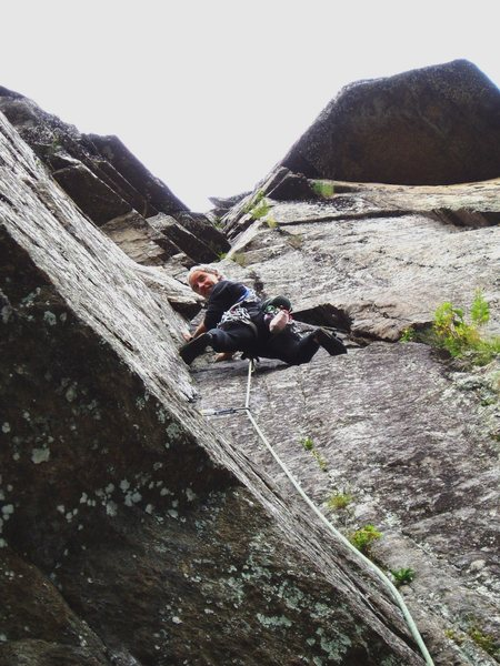 Rock Climbing Photo: Above on P2