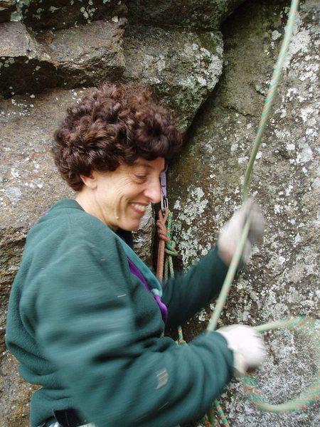 Rock Climbing Photo: Sheila Matz belays - allowing me to take photos !