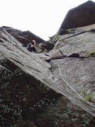 Rock Climbing Photo: Stepping Left