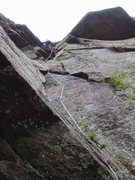 Rock Climbing Photo: Running P2 out to the belay