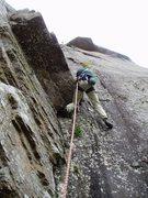 Rock Climbing Photo: Sheila at the crux