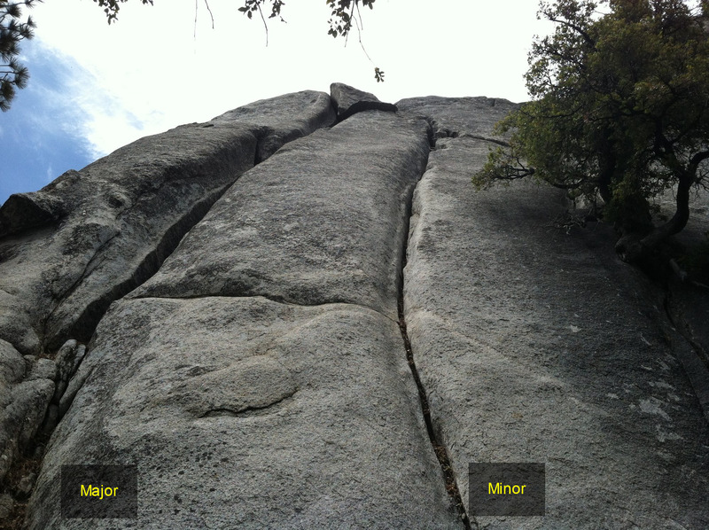 Rock Climbing Photo: Major and Minor