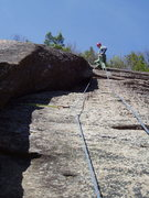 Rock Climbing Photo: RW at the belay on Coloring Book
