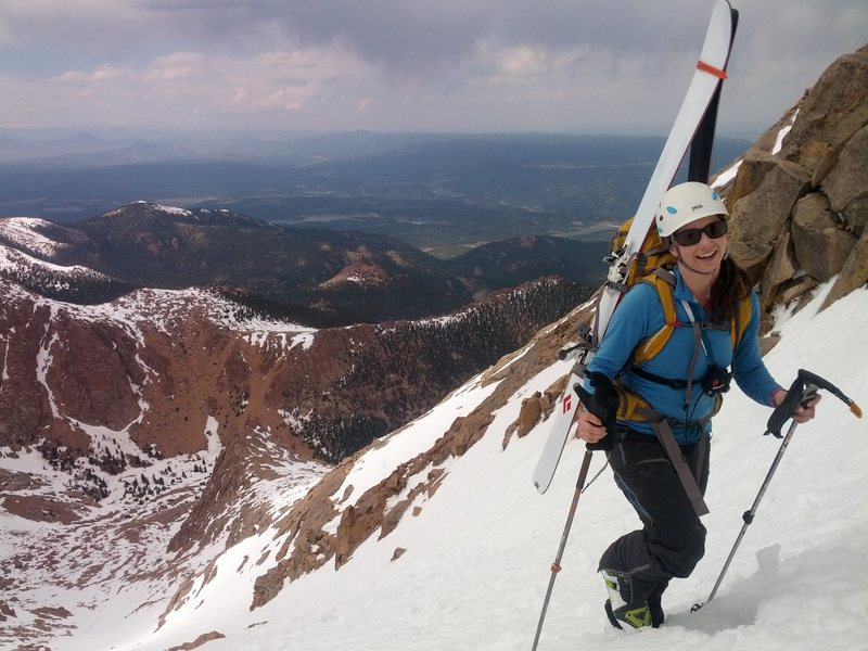 Rock Climbing Photo: Railroad Couloir, Pikes Peak.