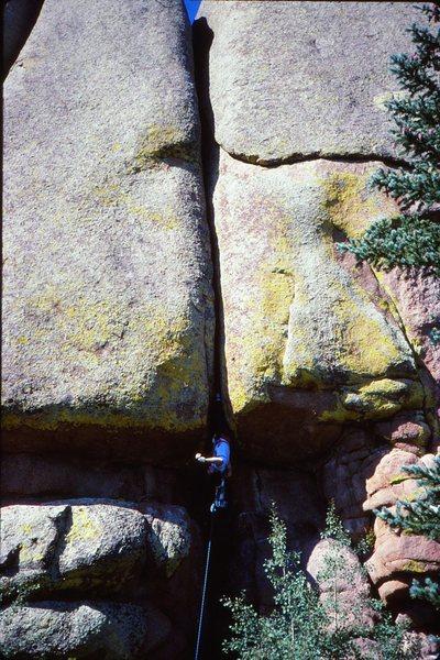 Rock Climbing Photo: Chuck Grossman on the Right Torpedo Tube. Late &#3...