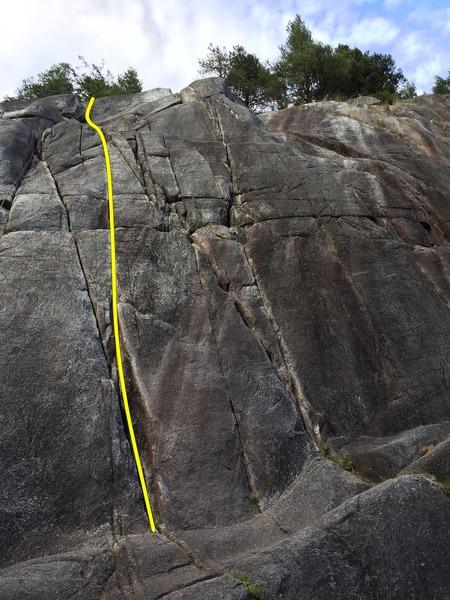 Rock Climbing Photo: Turkey Dinner Topo