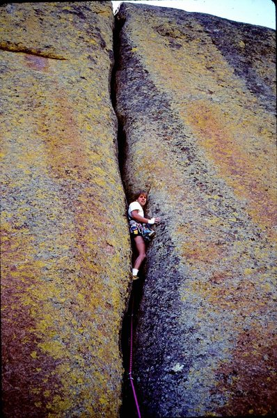 Rock Climbing Photo: Hard To Believe crack.  Photo by Jamie Silliman, &...