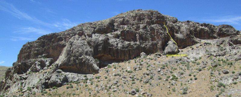 Rock Climbing Photo: Location of Dissonance.