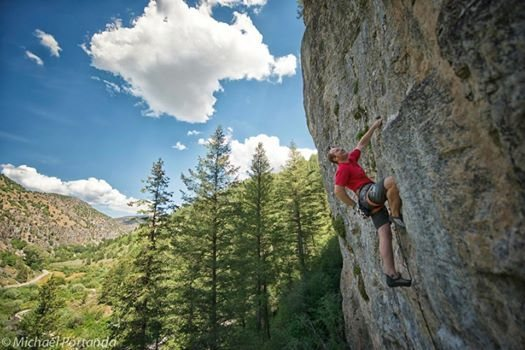 Rock Climbing Photo: rp of greyhound. Hardware Wall