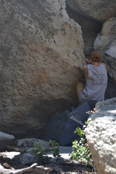 Gaining the positive section of the arete