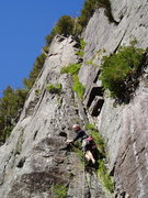 Rock Climbing Photo: Photo 1  Mark M. starting Chalk-Up Matilda