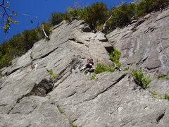 Rock Climbing Photo: photo 4 - the ledge below the crack
