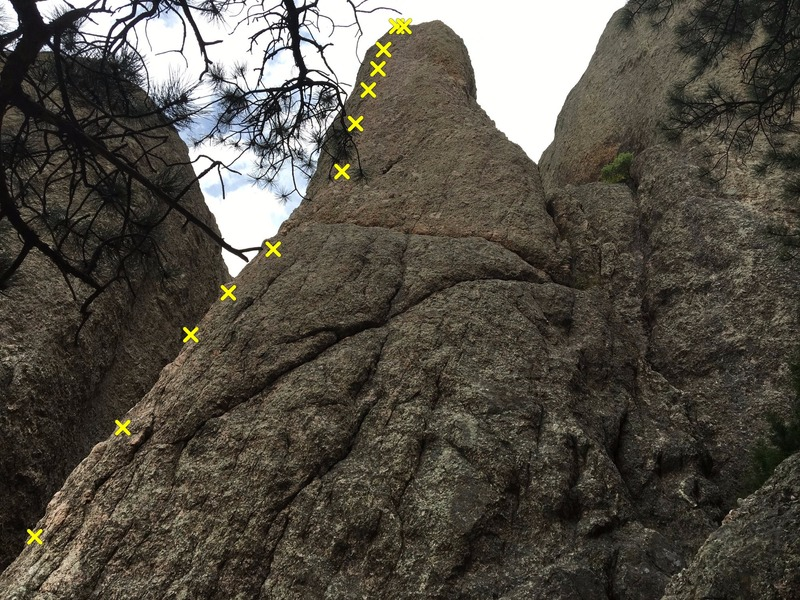"Rock Climbing Photo: The left route is ""The Steeple"", while t..."
