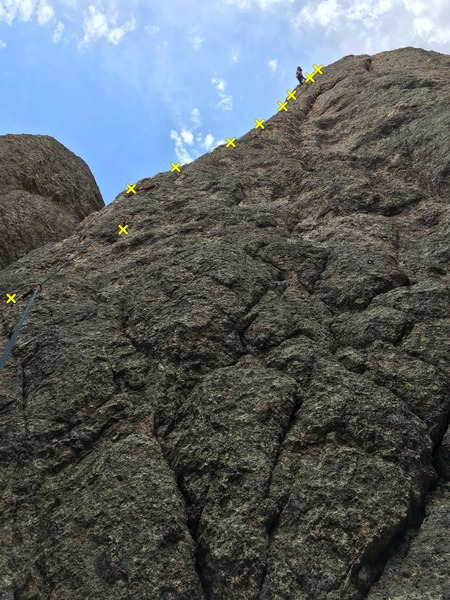 Rock Climbing Photo: Abbot Arete, 5.7.