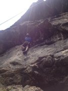 Rock Climbing Photo: Below the first hard section near the bottom.