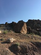 Rock Climbing Photo: Diamond Boulder  walking up from the middle parkin...