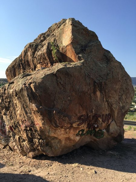 North and west side of the Diamond Boulder.