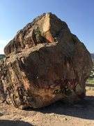 Rock Climbing Photo: North and west side of the Diamond Boulder.