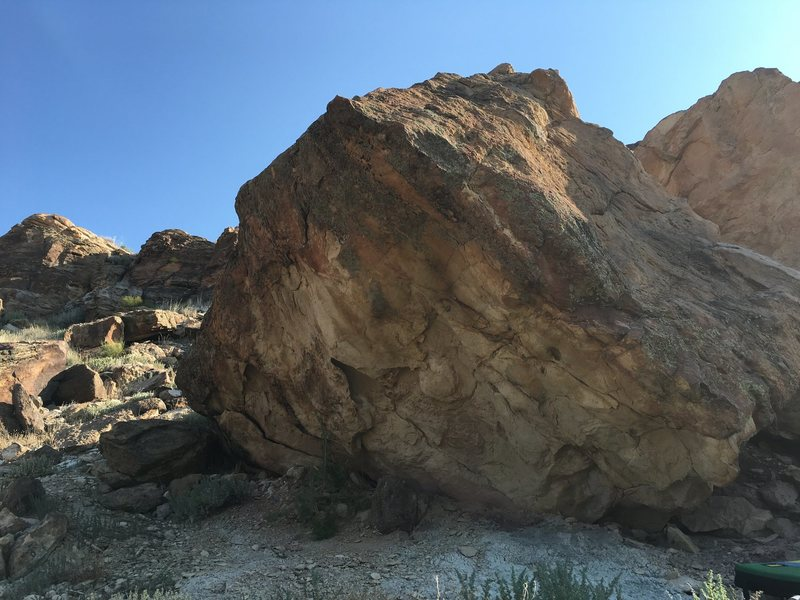 Rock Climbing Photo: Main, southwest, face of the Butter Block.