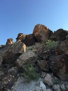 Rock Climbing Photo: Prison Break Block from a distance.