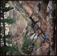 Rock Climbing Photo: Sunset Boulevard
