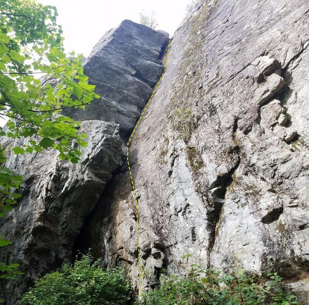 Rock Climbing Photo: Alpha One.  Q'Emilin Park, ID.