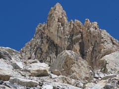 Rock Climbing Photo: The route traverses the ridge from right to left (...