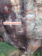 Rock Climbing Photo: Current lowest starting holds to set up for a stan...