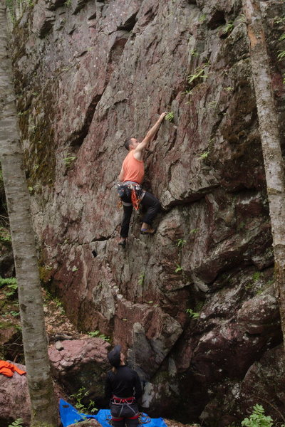 Rock Climbing Photo: Me on Practice 5.8, Seigankyo