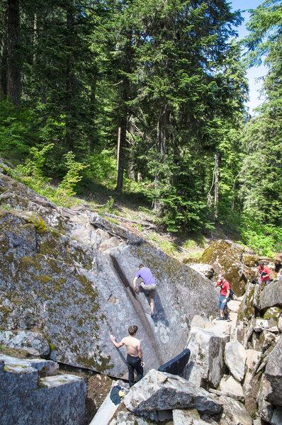 Rock Climbing Photo: Skid Mark Boulder