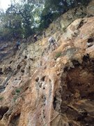 Rock Climbing Photo: Some of the climbs on the left end of Eagle Wall. ...