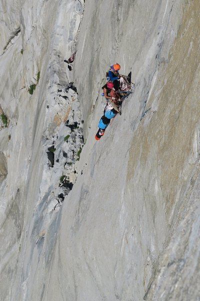 Rock Climbing Photo: above Sickle Ledge