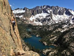 Rock Climbing Photo: Looking back on the traverse from the fine line to...