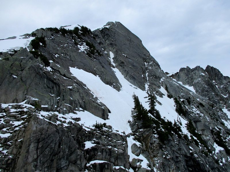Rock Climbing Photo: Early season (June 2016) conditions on the north s...
