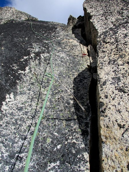The final crack to the top.