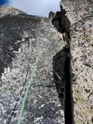 Rock Climbing Photo: The final crack to the top.