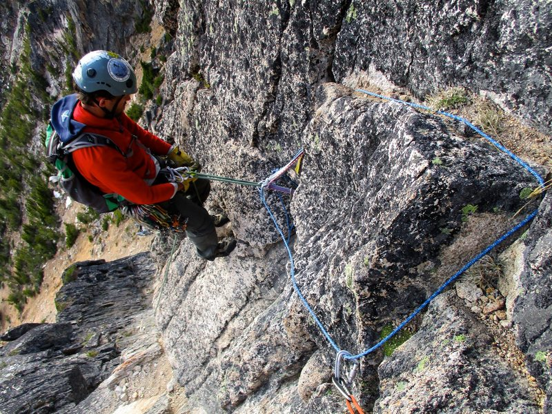 Rock Climbing Photo: The second to last rappel. The rappels bring you d...