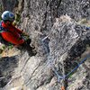 The second to last rappel. The rappels bring you down to near the start of the route.