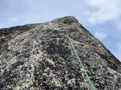 Rock Climbing Photo: The final section of climbing to the top of Paisan...